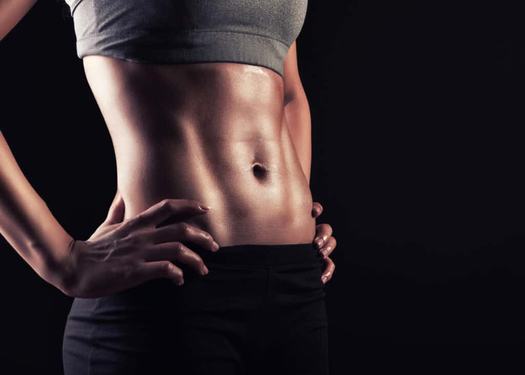 Fit woman abs