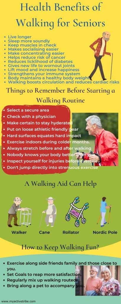 Health Benefit of Walking for Seniors