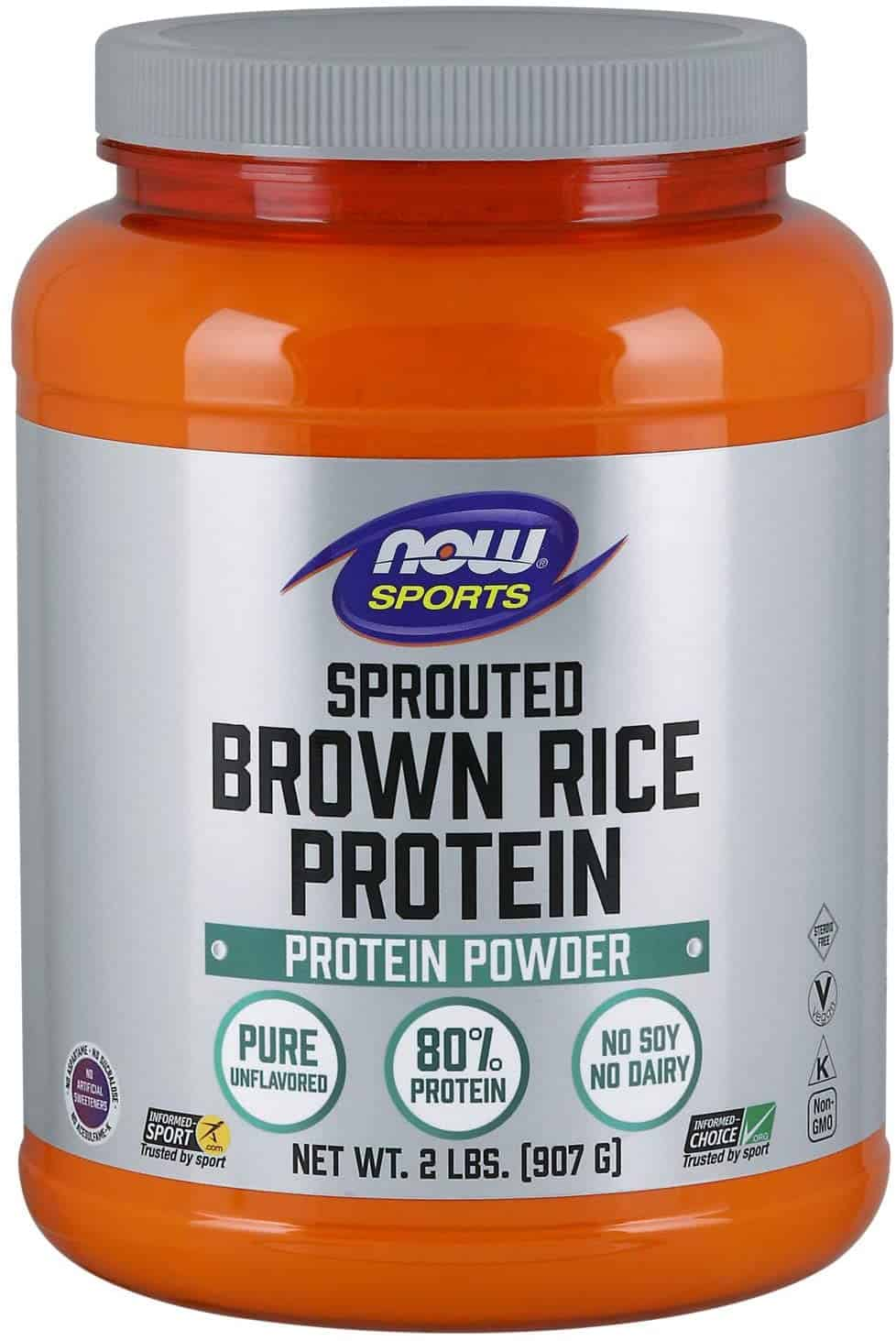 NOW Sports Nutrition, Sprouted Brown Rice Powder