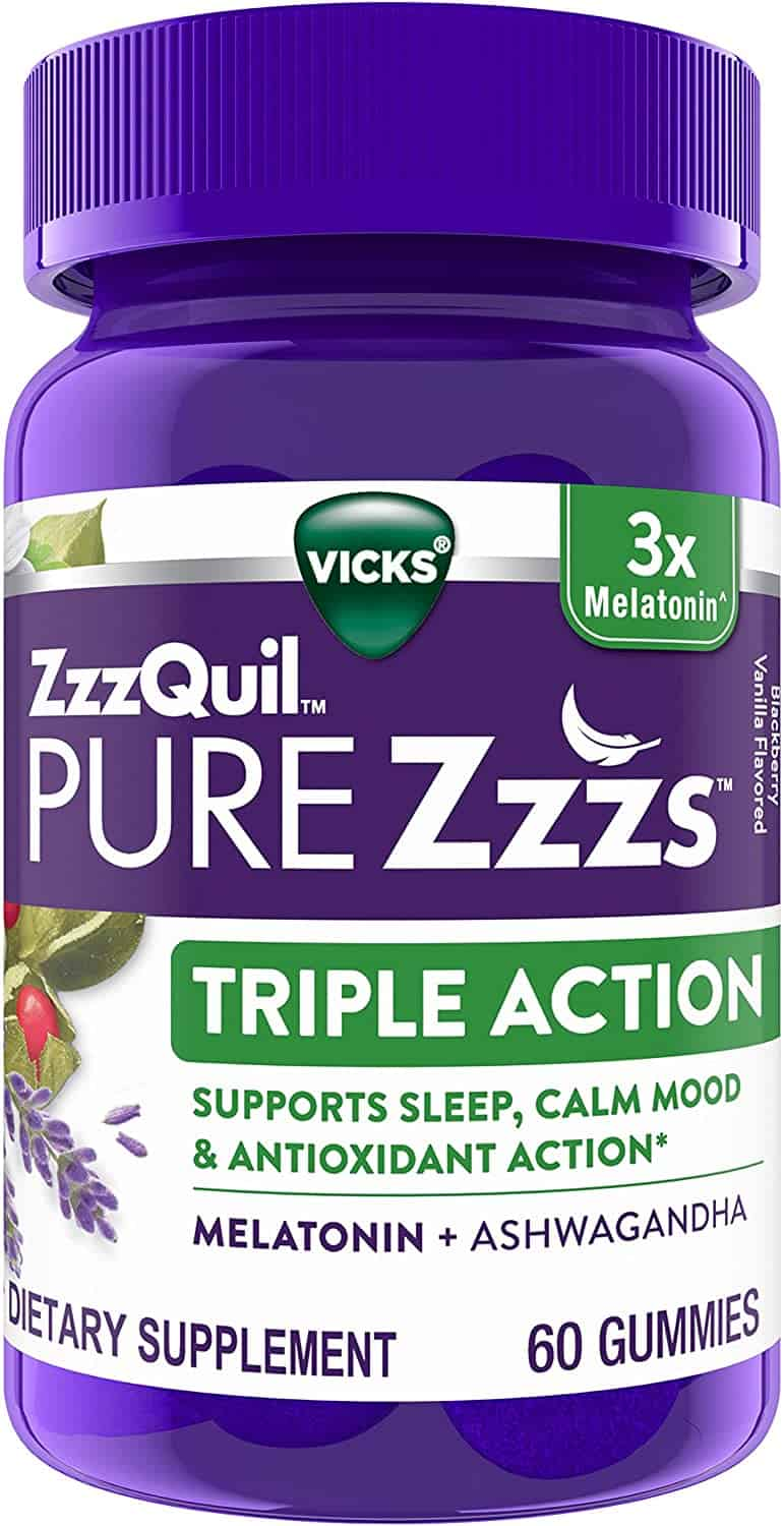ZzzQuil PURE Zzzs, Triple Action Gummy